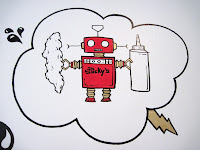 Sticky Finger's Joint Robot mascot