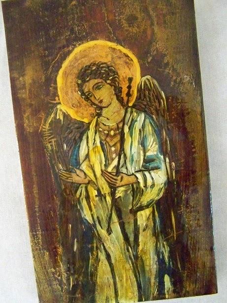 Duża ikona z aniołem