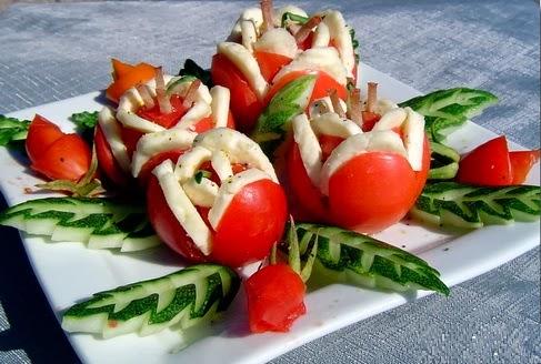 Фото красивых закусок и салатов с
