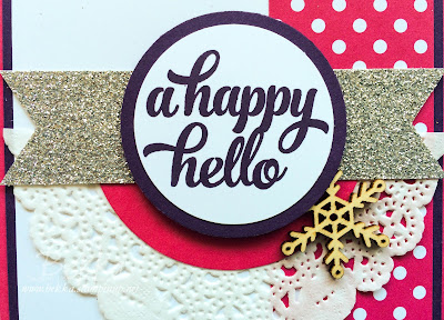 Happy Hello Card using Stampin' Up! UK Supplies - get them here