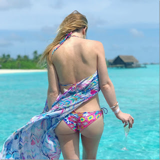 Tara Lipinski in Bikini at One & Only Reethi Rah Maldives Island Resort