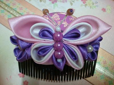 butterfly, kanzashi, hair comb, Malaysia