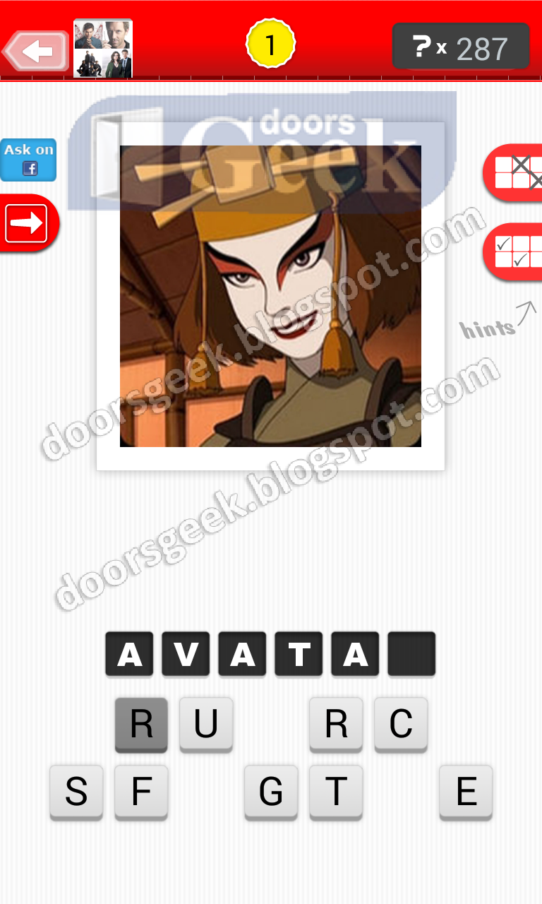 answer avatar guess the tv show level 23 1 answer cheats solution for