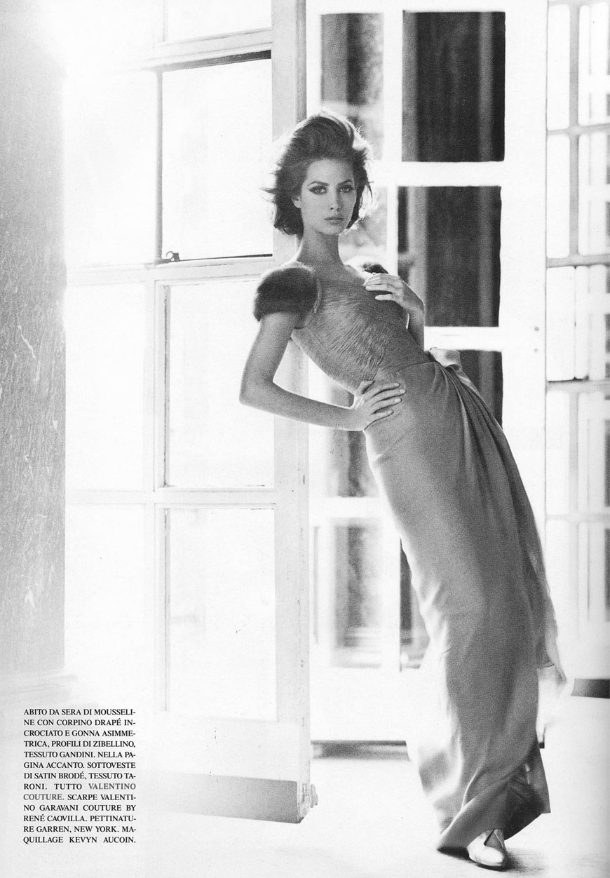 via fashioned by love | Christy Turlington in Vogue Italia September 1991 (photography: Steven Meisel)