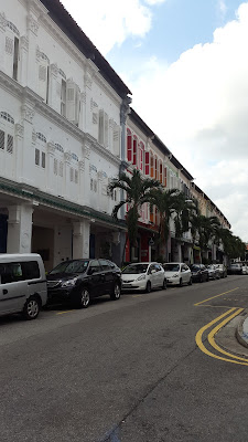 A row of shophouses in Singapore