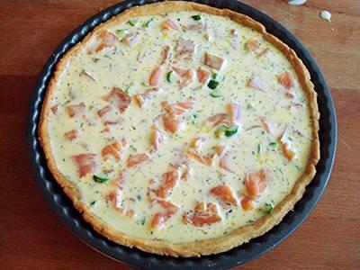 Procedimento Quiche salmone e zucchine - quindicesimo passaggio