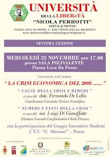 Locandina incontro 25 novembre