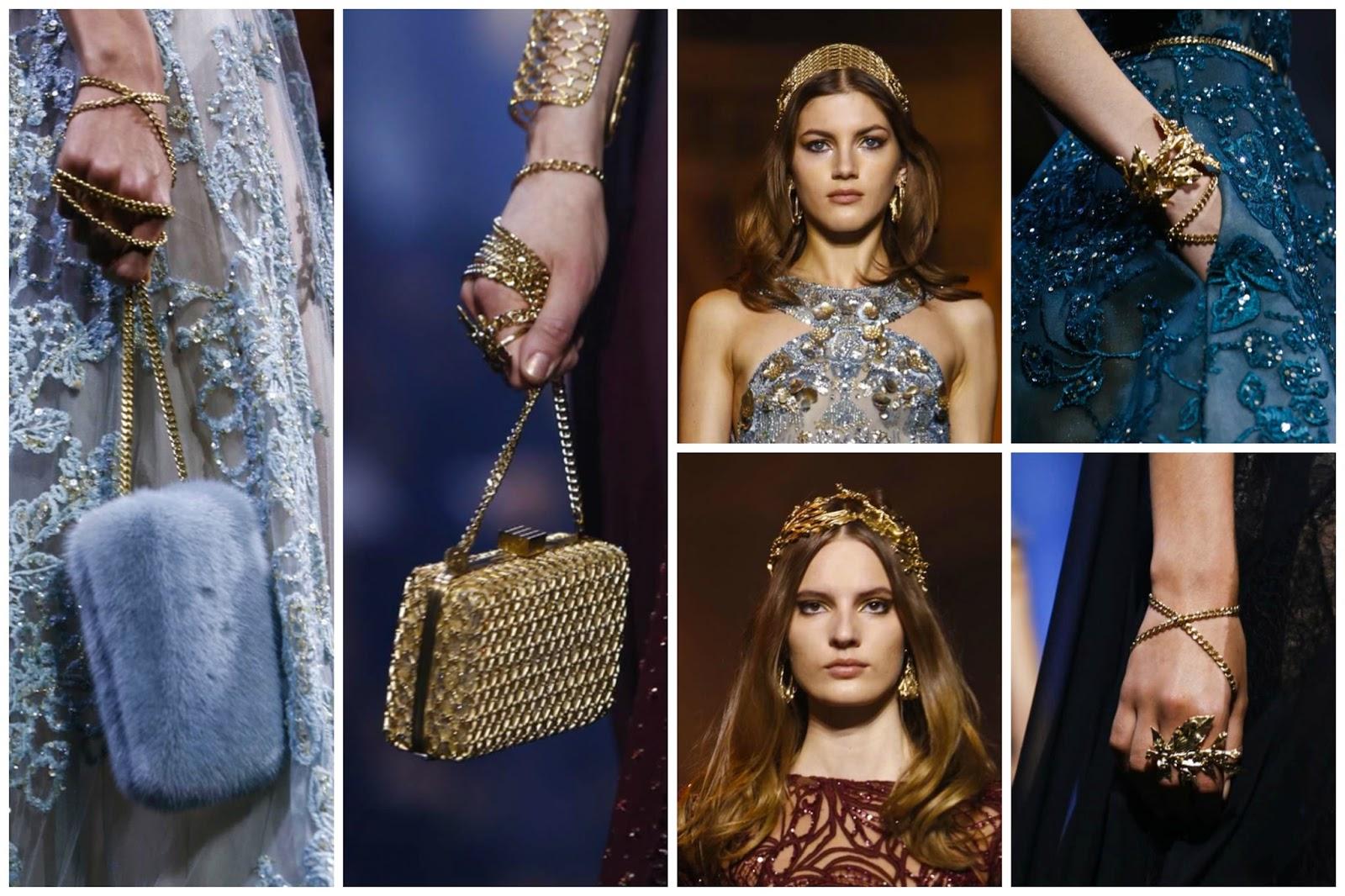 Close up bags details elie saab show 2015