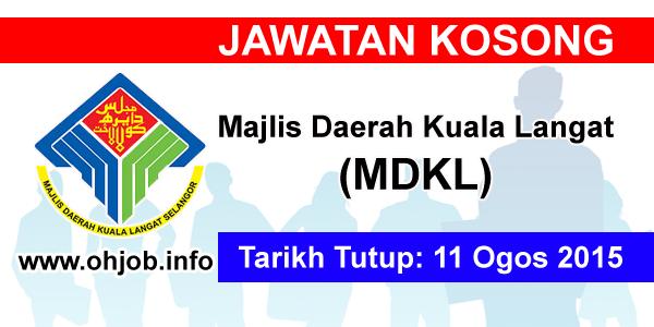 Jawatan Kerja Kosong Majlis Daerah Kuala Langat (MDKL) logo www.ohjob.info ogos 2015
