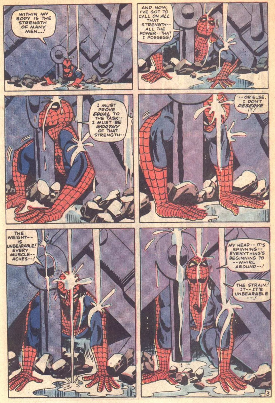 The Scene With Spider Man Struggling Under Wreckage Has Been Adopted In Other Stories Roger Stern Viewed Juggernaut As His Version Of Great