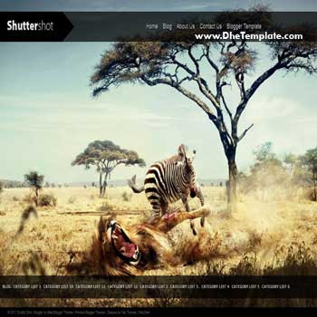 Shutter Shot blogger template. blogger template for photo blog