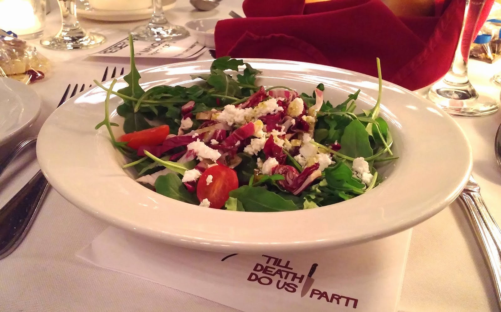 Mysteriously Yours Dinner Theatre: Getting Hitched -arugula salad