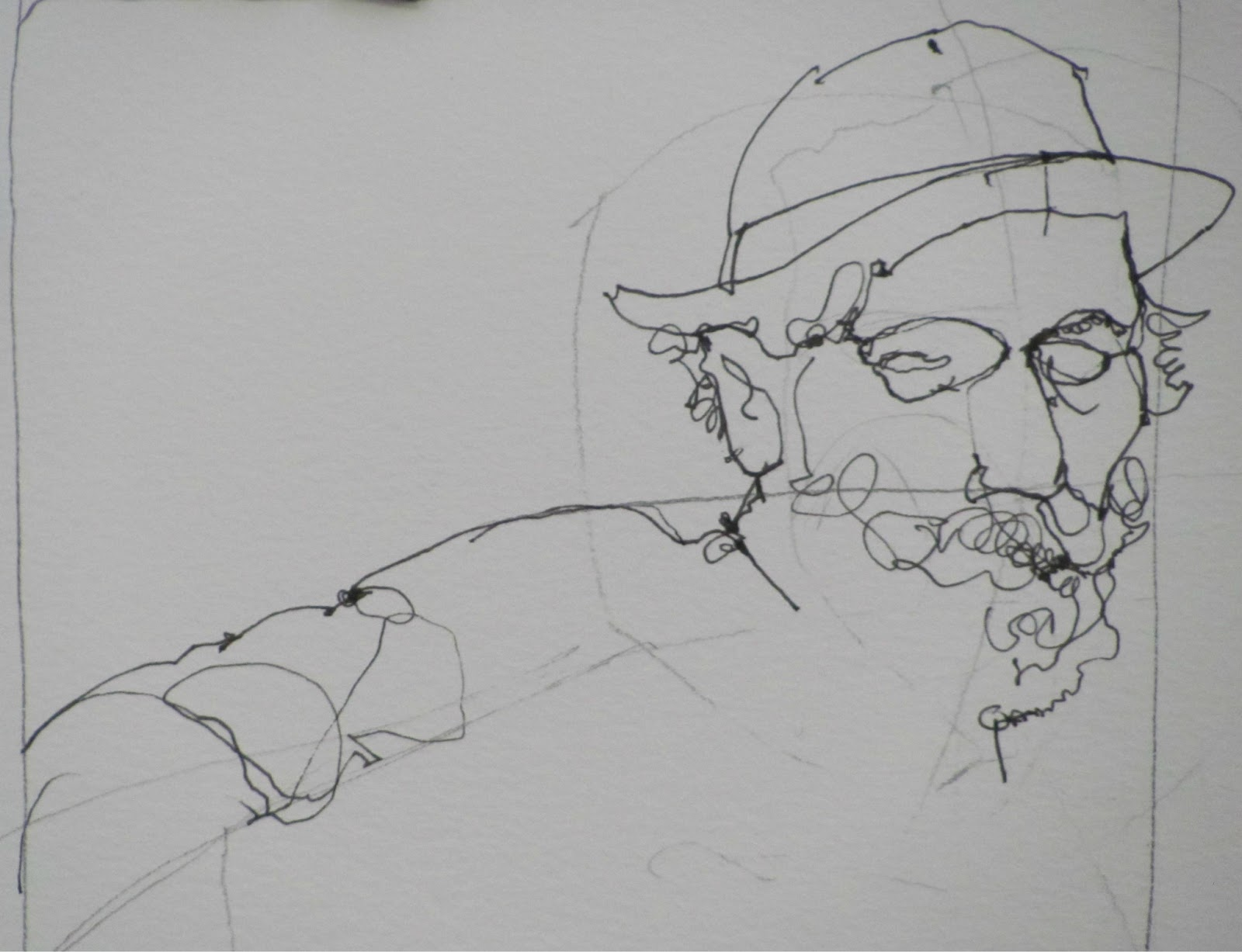 Contour Line Drawing Of A Person : Line drawing without lifting the pencil youtube