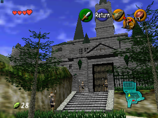 Legend of Zelda Ocarina of Time Hyrule Castle
