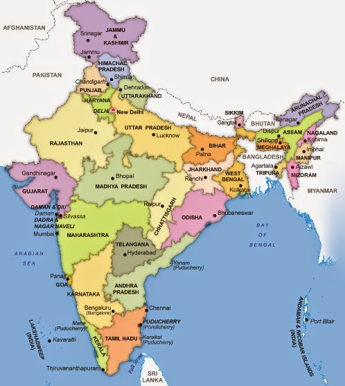 States And Capitals List of India List of India 39 s 29 States