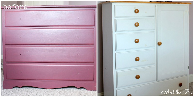 Dresser Makeover- How to grey wash a dresser with chalk paint!