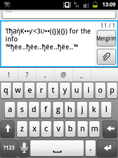 Auto Text BlackBerry dengan Smart Keyboard Pro di Android