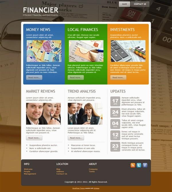 Financier - Free Wordpress Theme