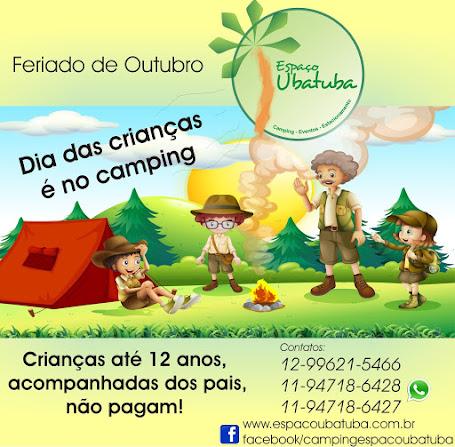 Feriado de 12 a 15 Outubro Camping Espaço Ubatuba