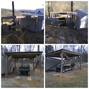 The completed golf cart shelter
