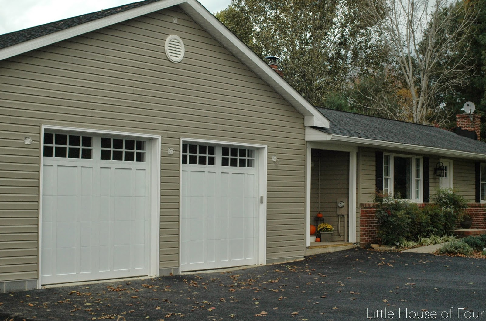 2014 12 28 little house of four creating a beautiful for Garage additions pictures