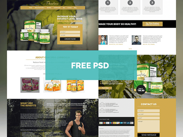 Free Produce Theme Product Landing Page