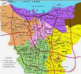 Peta Wisata dan Rute Objek Wisata Jakarta