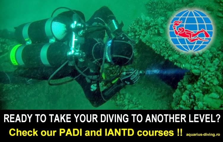 PADI and IANTD Scuba diving courses Aquarius dive center Constanta Romania