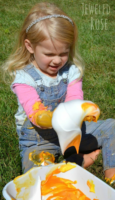 Candy corn fluff- like touching candy clouds {fun Play for Fall}