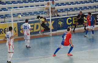 Foto arquivo-Jogo de Futsal em Teresópolis