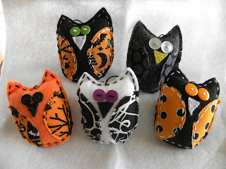 Picked And Polished Halloween Felt Owls