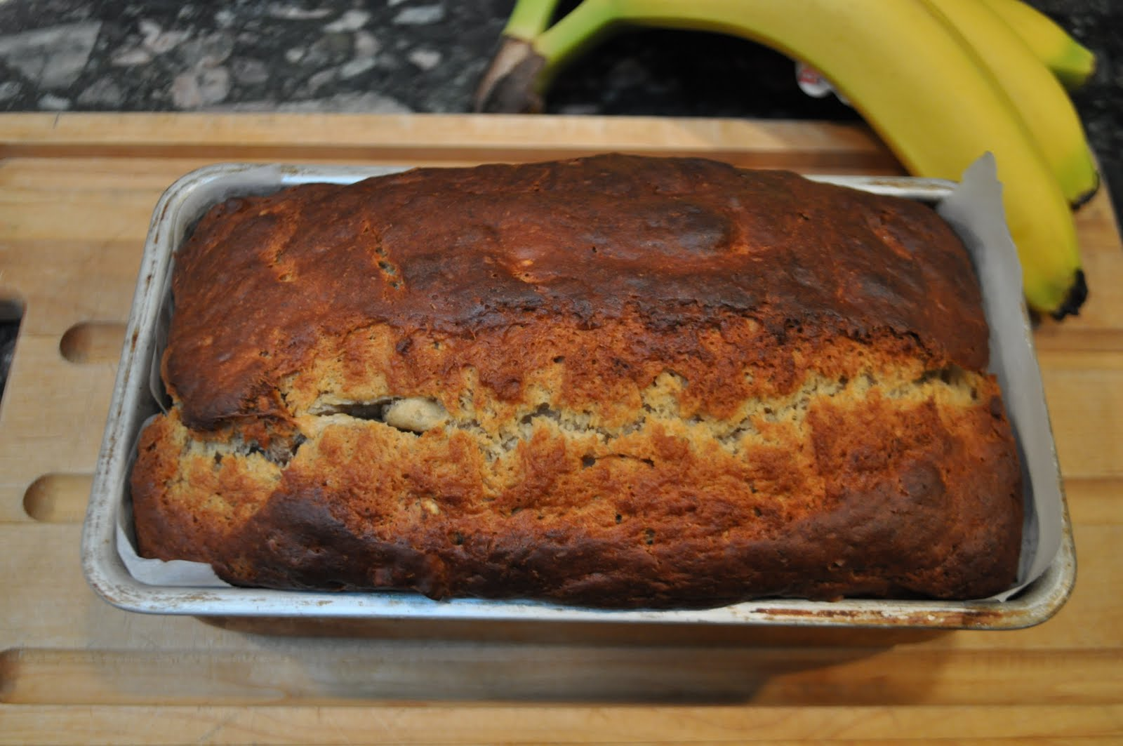 Banana loaf start with an onion bake at 350 for 45 minutes to one hour until knife inserted in centre comes out clean it may take up to an hour and a half depending on your oven forumfinder Images