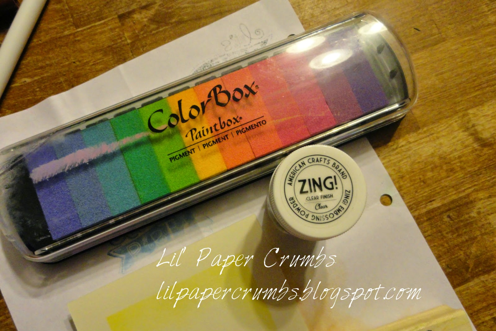 Pigment ink and clear embossing powder