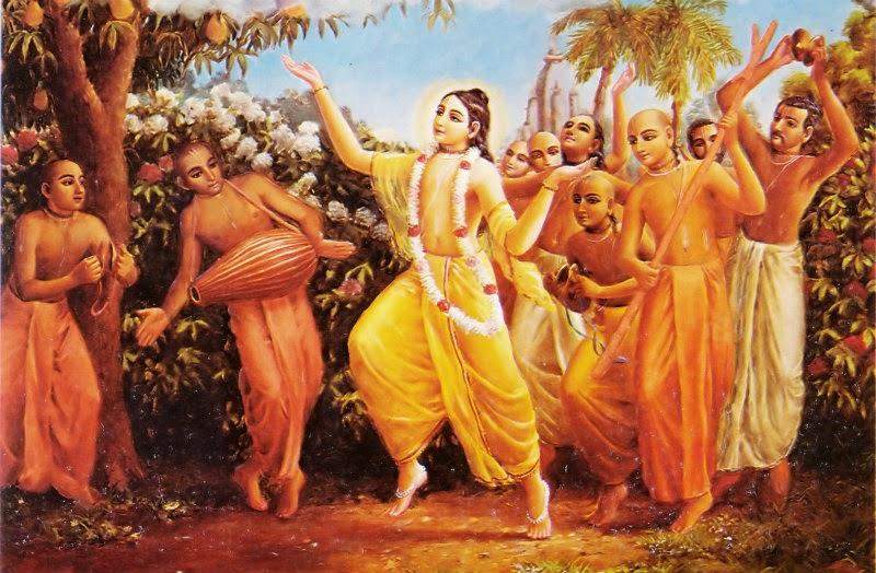 Lord Chaitanya Mahaprabhu dancing