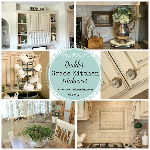 French Farmhouse Kitchen - French Country Kitchen- Autumn Haze Glidden Paint- Annie Sloan Chalk Paint-Old Ochre Chalk Paint