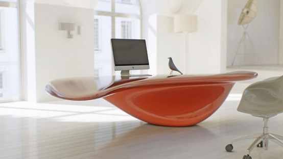 Home Modern Unique Computer Desk with Elegant Style