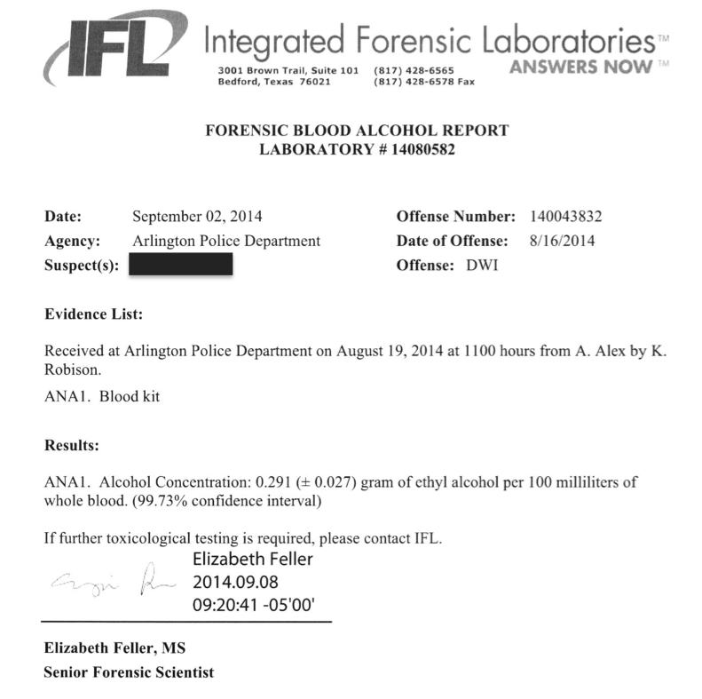 Texas DWI Gal: Integrated Forensic Laboratories: Who's on First?