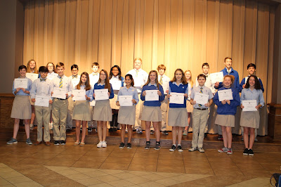 Montgomery Catholic Middle School Announces Honor Roll for First Semester 1