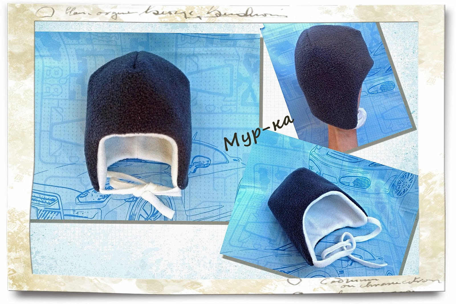 Выкройки шапок из флиса для детей фото