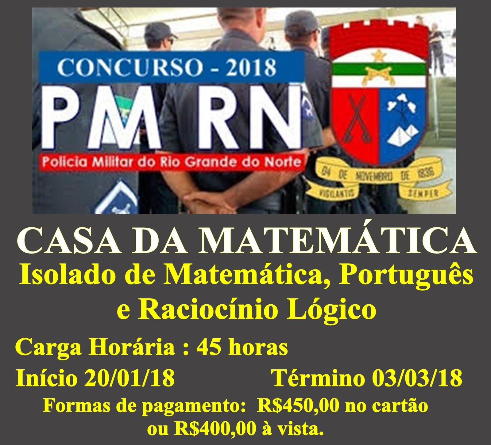 PREPARATÓRIO POLÍCIA MILITAR DO RN - 2018