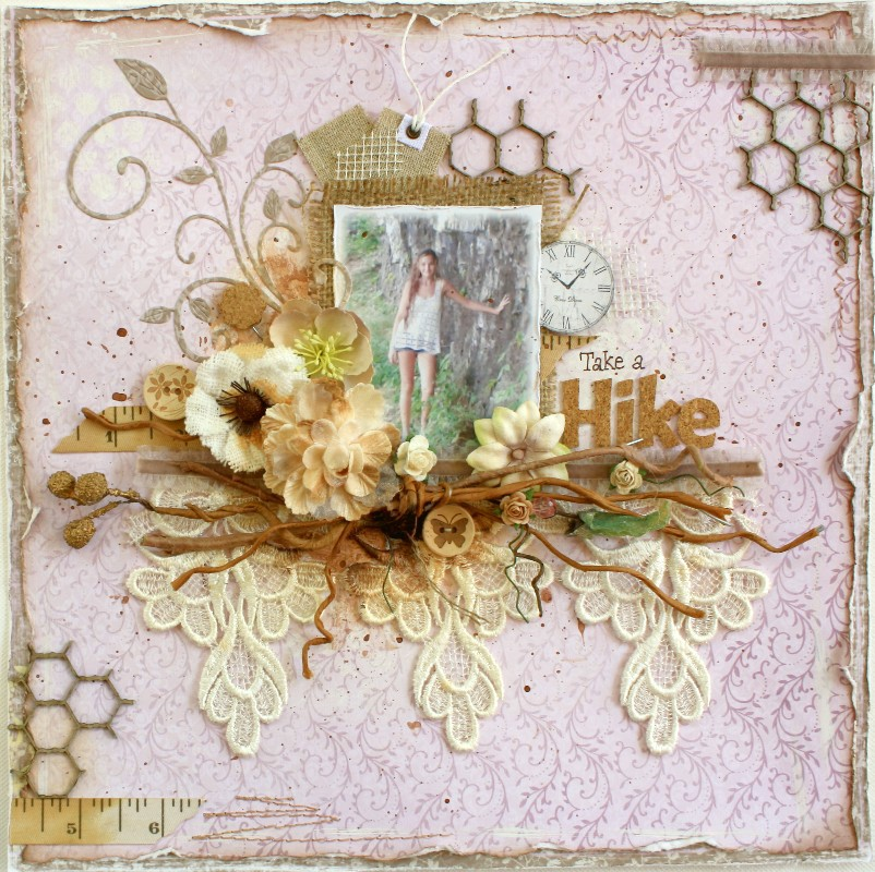 Such a pretty mess take a hike maja design mlyb for Waterfall design in scrapbook