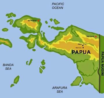 Gambar Peta Indonesia - Papua