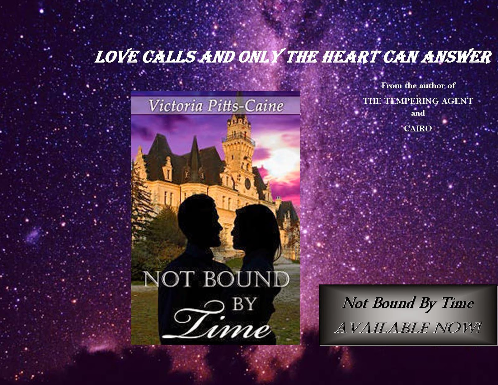 http://www.amazon.com/Not-Bound-Time-Victoria-Pitts-Caine-ebook/dp/B00SEHW3F6/ref=sr_1_1?ie=UTF8&qid=1426694181&sr=8-1&keywords=victoria+pitts+caine