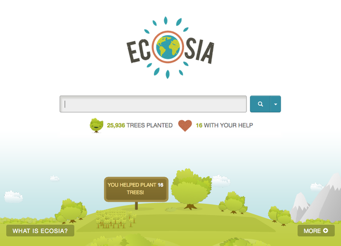 ecosia, eco, green, search engine, environmentalism, trees
