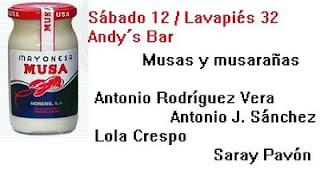 Lola Crespo  Hipólito García Bolo + Antonio Rodríguez Vera + trompetista + guitarrista + Antonio J. Sánchez + Saray Pavón