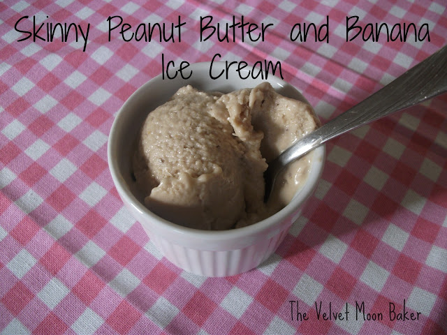 Skinny Peanut Butter and Banana Ice Cream