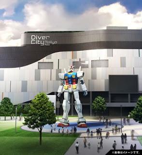 El parque temático Gundam abre sus puertas en Tokio