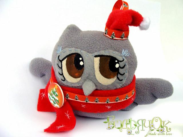сова, совенок из флиса, подарок сова