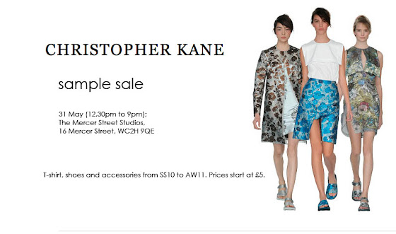 CHRISTOPHER KANE sample sale