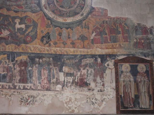 икона в грузинском храме нарисованная на камне